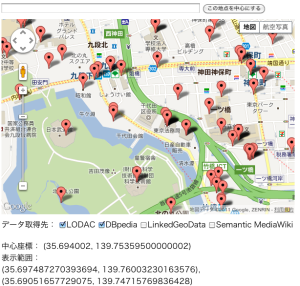 Map Demo – integration of LODAC, DBPedia
