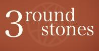 3 round stones