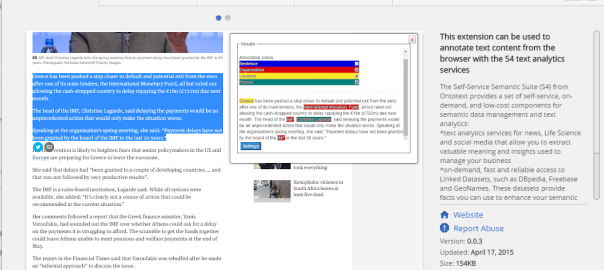 S4 in the Chrome Store